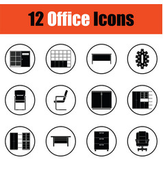 office furniture icon set vector image