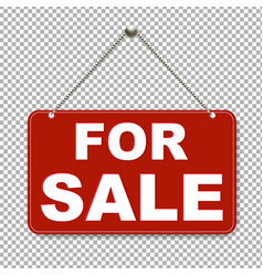 For sale sign with transparent background vector