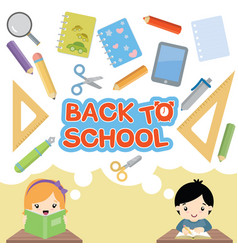 Back to school set vector
