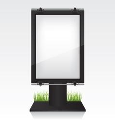 City light black billboard vector image