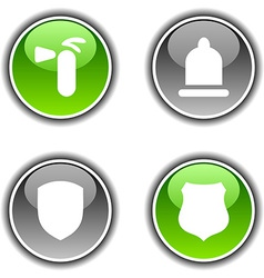 Safety buttons vector