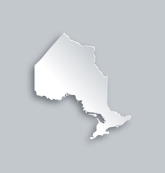 Map of ontario vector