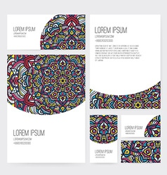 Ornamental business set dedign vector
