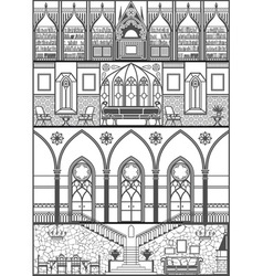 Gothic interior converted vector