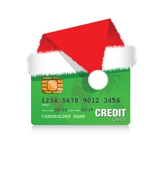 Christmas credit card vector