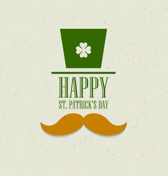 St Patricks Day flat card design vector image