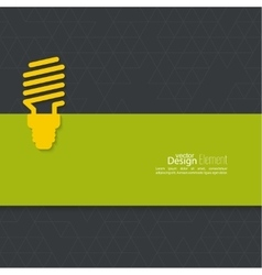 Energy saving fluorescent light bulb vector