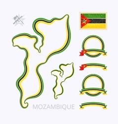 Colors of mozambique vector