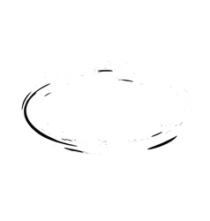 Grunge frame oval shape vector
