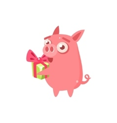 Pig party animal icon vector