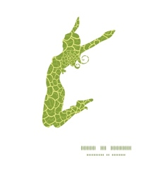 abstract green natural texture jumping girl vector image vector image