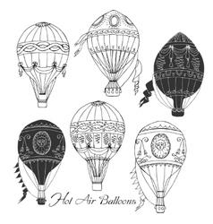 Air balloons backgr-06 vector