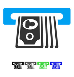 Atm insert cash flat icon vector