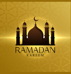 Beautiful ramadan kareem background with mosque vector