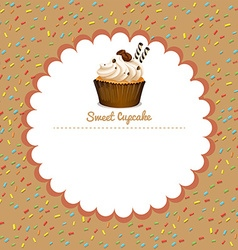 Border design with coffee cupcake vector image vector image