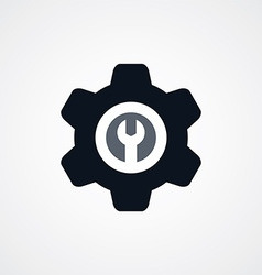 Cog Settings Icon Symbol vector image