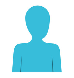 colorful silhouette of human half body and vector image vector image