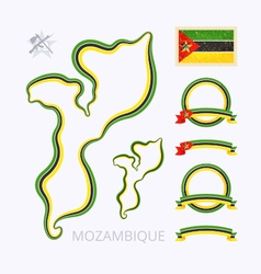 Colors of mozambique vector