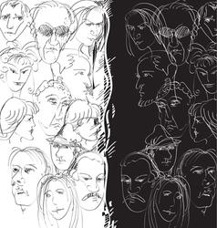 crowd split vector image
