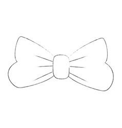 decorative bow symbol vector image
