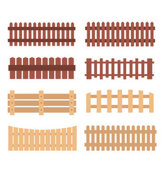 Different designs of fences vector