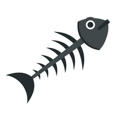 Fish bone icon isolated vector