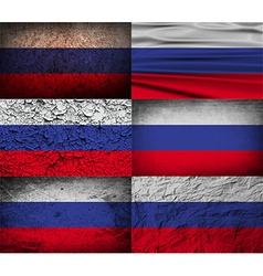 Flag of russia with old texture vector