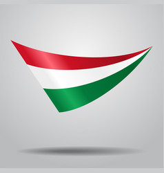 hungarian flag background vector image