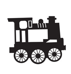 Isolated train toy vector
