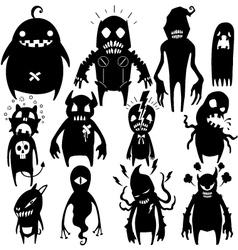 Little Monsters set 002 vector image