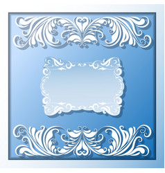 paper frame and borders vector image vector image