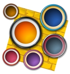 round frame on the wall vector image vector image