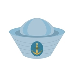 Sailor cap nautical anchor design vector