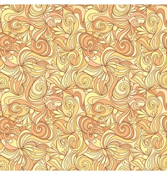 Seamless abstract gold color hand-drawn texture vector