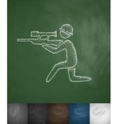 Sharpshooter icon vector