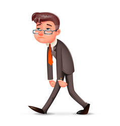 tired weary fatigue melancholy sad businessman vector image