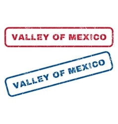 Valley of mexico rubber stamps vector