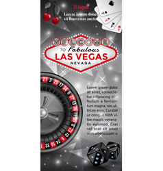 Welcome to las vegas flyer vector