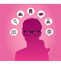 Woman with glasses vector image vector image