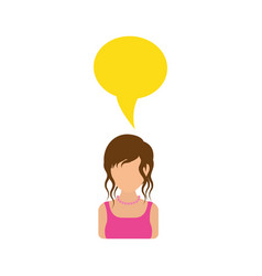 women faceless profile vector image