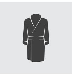 Bathrobe icon vector image