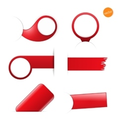Big set of empty tags with place for you graphic vector