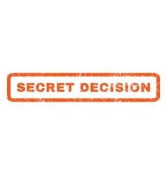 Secret decision rubber stamp vector