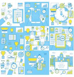Finances education marketingbudgeting team work vector