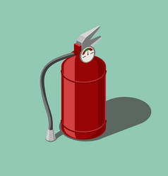 Red fire extinguisher isometric vector