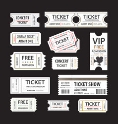 Old cinema tickets for cinema eps10 vector