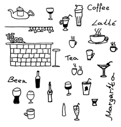 Scetch for cafe vector image