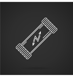 Protein bar white line icon vector