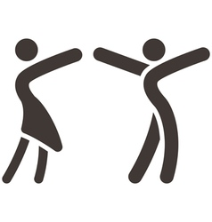 Sport dancing icon vector