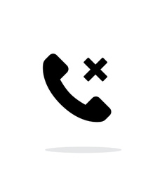 Phone call cancel simple icon on white background vector